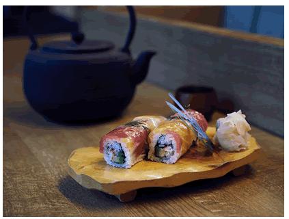 Sushi Rolle Regenbogen
